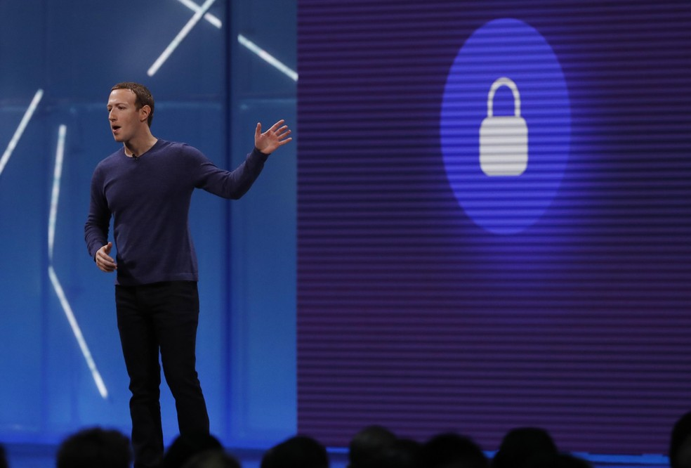 -  Mark Zuckerberg, CEO do Facebook, durante o F8, conferência de desenvolvedores da rede social.  Foto: Stephen Lam/Reuters