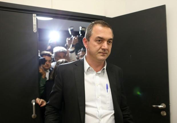 O empresário brasileiro Joesley Batista após prestar depoimento em Brasília (Foto: Adriano Machado/Reuters)