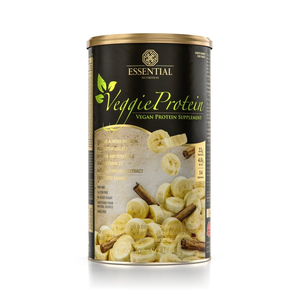 Proteína vegana de banana com canela, da Essential Nutrition (Foto: Divulgação)