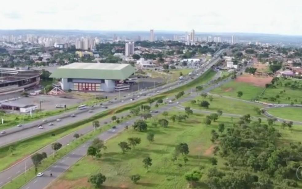 Concessionária vai usar drone para monitorar trecho da BR-153 em Goiás (Foto: Reprodução/TV Anhanguera)