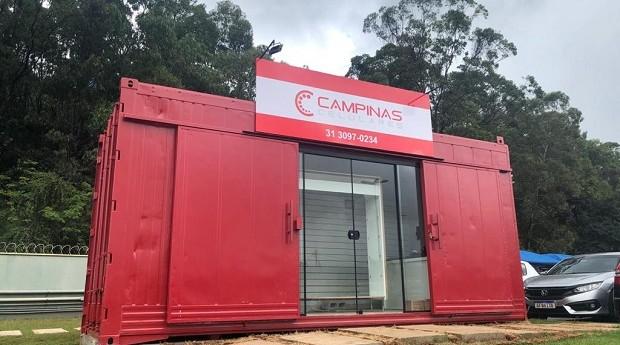 Contêiner da Campinas Celulares (Foto: Divulgação)