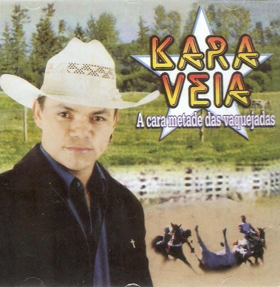 Edvaldo José de Lima, o Kara Veia, fez sucesso no começo dos anos 2000 e virou o 'rei da vaquejada', mas se matou em 2004 em sua casa em Maceió — Foto: Reprodução