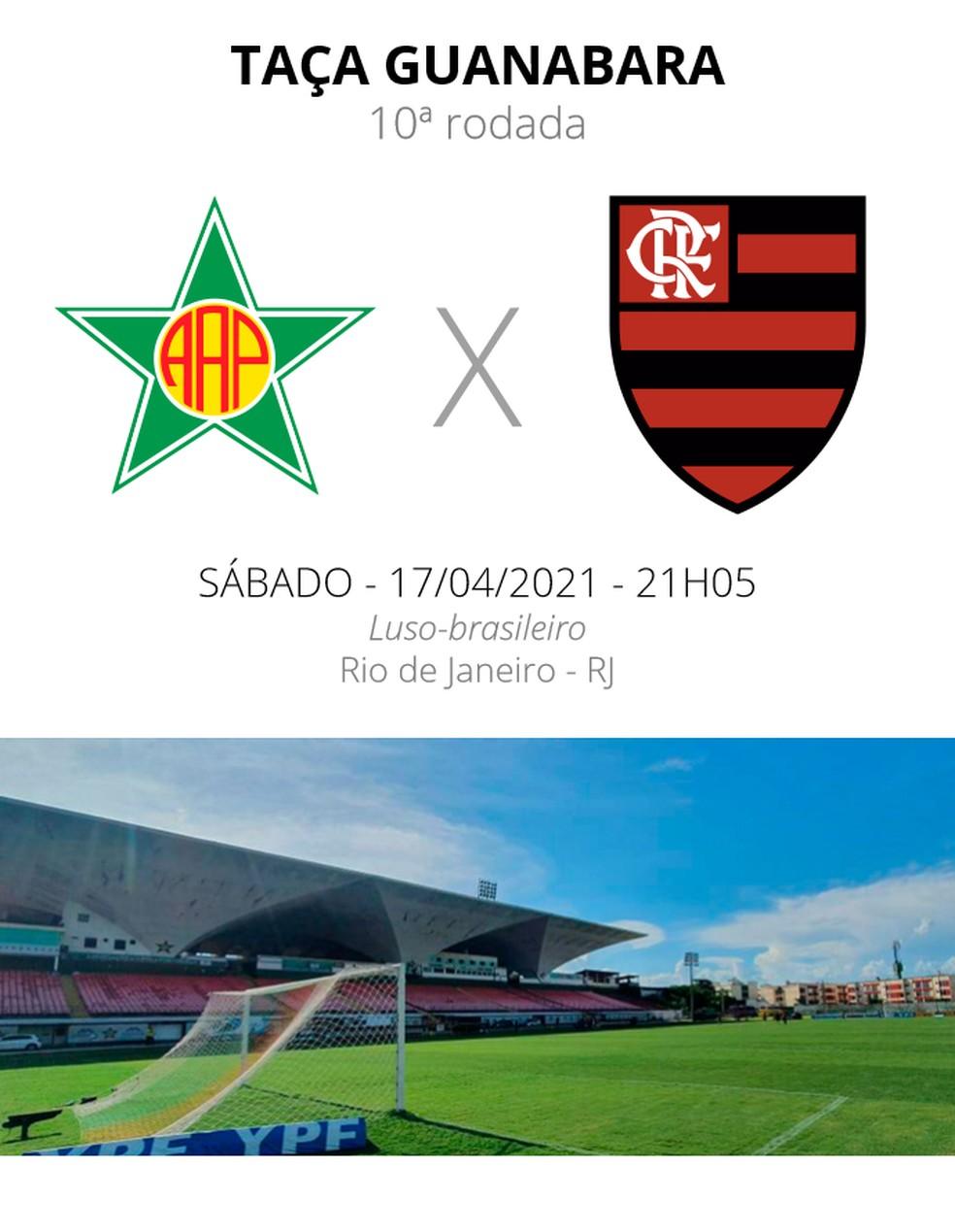 Portuguesa x Flamengo — Foto: ge