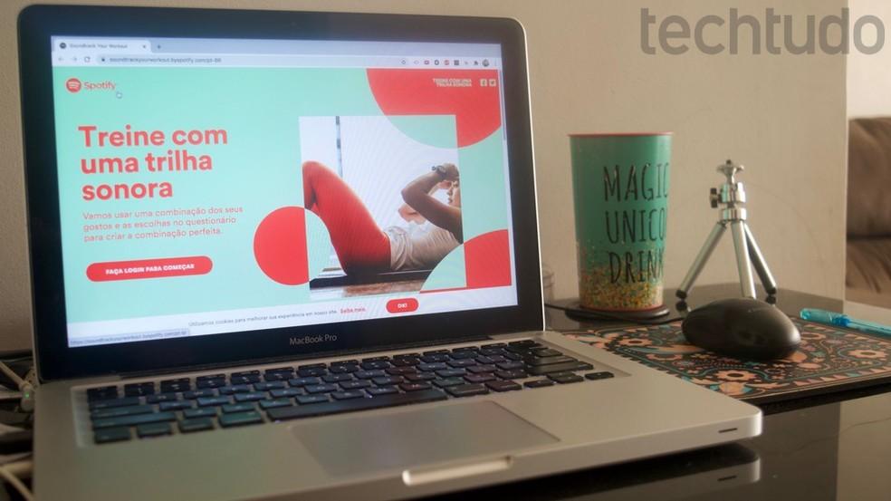 Tutorial mostra como criar no spotify uma playlist personalizada para usar como trilha de suas atividades físicas — Foto: Marvin Costa/TechTudo