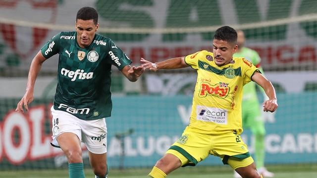 Henri, durante a partida entre Palmeiras x Mirassol