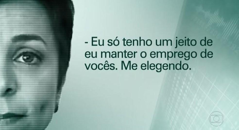 Gravação mostra Cristiane Brasil cobrando votos de servidores públicos (Foto: Reprodução)