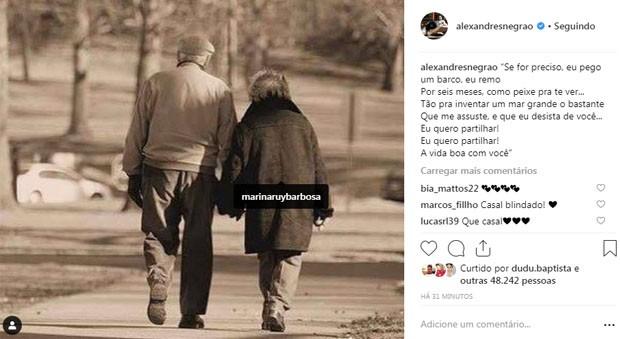 Xandinho Negrão se pronuncia em meio às polêmicas com Marina Ruy Barbosa (Foto: Reprodução/Instagram)