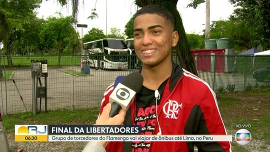 Torcedores encaram cinco dias de ônibus para ver o Flamengo em Lima na final da Libertadores