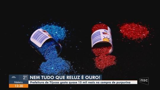 Prefeitura de Tijucas compra cerca de R$ 15 mil em purpurina para escolas e MPSC é acionado
