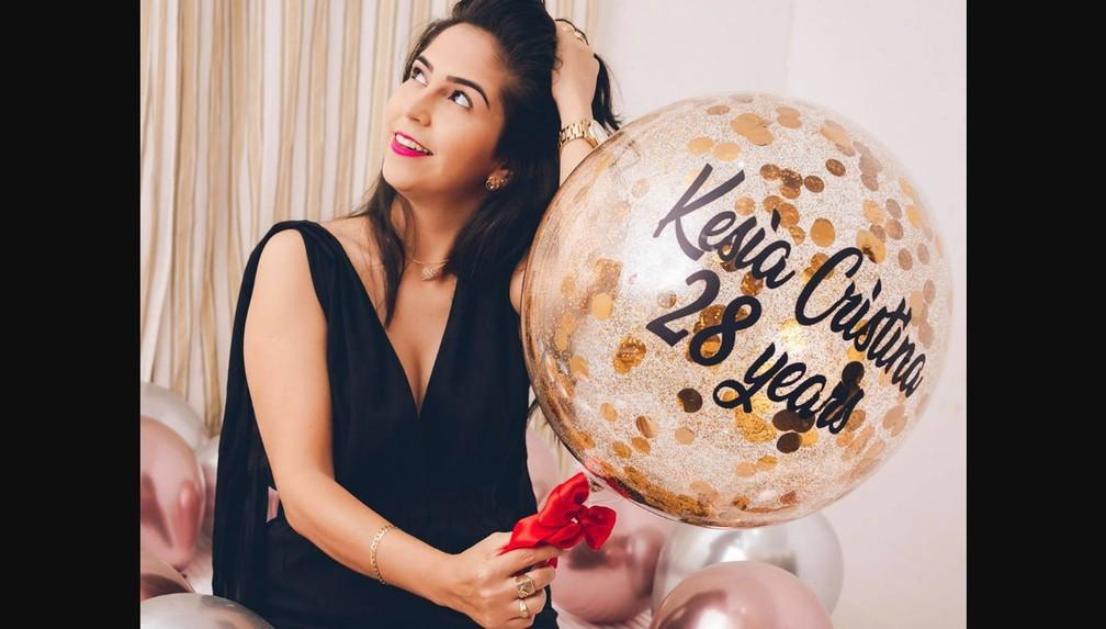 Kesia Cristina celebrou chegada de 28 anos no dia 15 de junho — Foto: Facebook/Reprodução