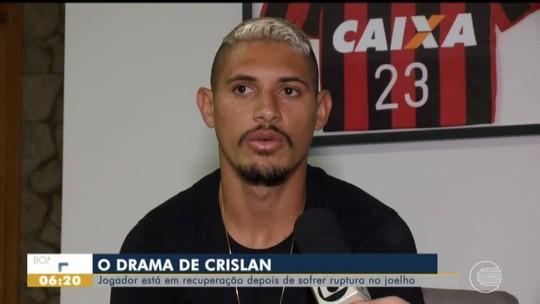 Após cirurgia, Crislan faz parte da recuperação no Piauí e intercala fisioterapia com carinho da mãe