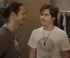Vladimir Brichta e Nicolas Prattes em 'Rock story' | TV Globo