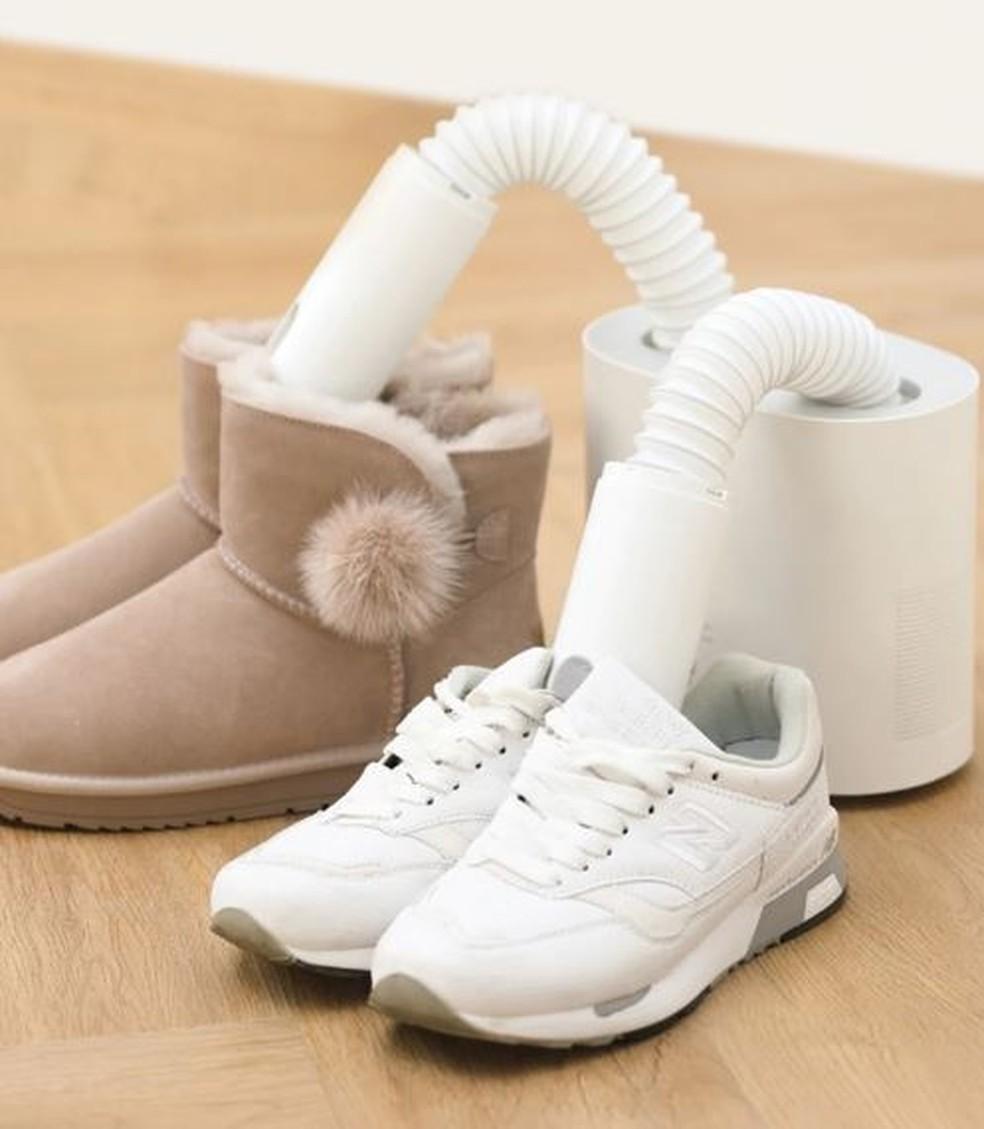 Xiaomi Deerma Hx promete matar os germes e secar os calçados — Foto: Divulgação/Xiaomi