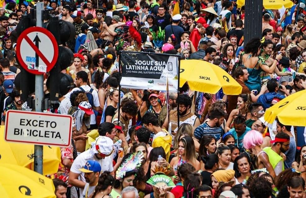 Cortejo do bloco Tarado ni Você, no Centro de SP em 2020 — Foto: Divulgação