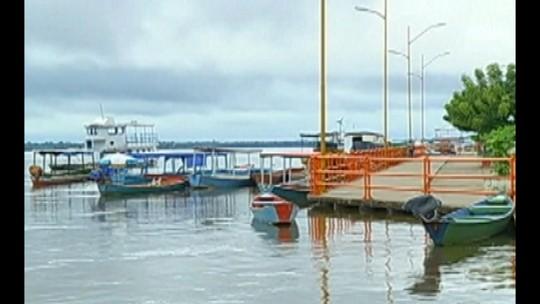 Rio Tocantins atinge o nível mais alto do ano e a cidade de Marabá fica alagada