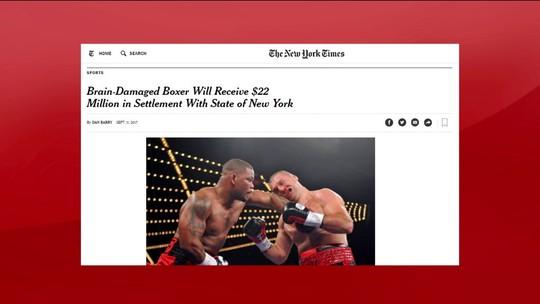 Ex-boxeador que teve AVC será indenizado em US$ 22 milhões pelo Estado de NY