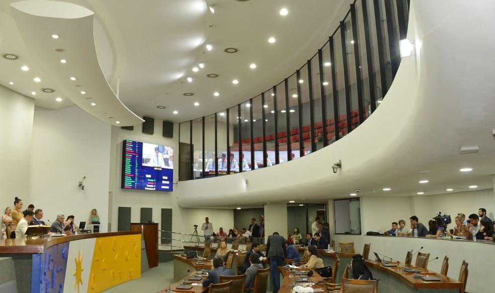 Textos foram enviados para a Assembleia Legislativa — Foto: Koró Rocha/AL Tocantins