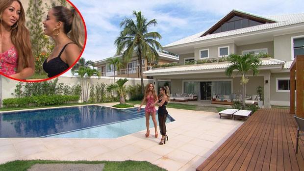 Sabrina Sato visita mansão de Anitta  (Foto: Divulgação/Record TV )