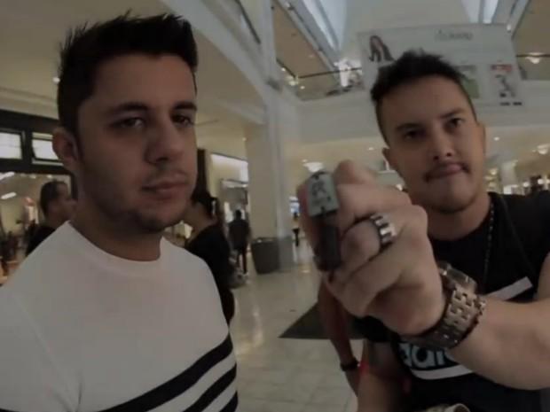 Empresário diz que guarda vídeos de Cristiano Araújo 'para amenizar saudade', em Goiás (Foto: Reprodução/TV Anhanguera)