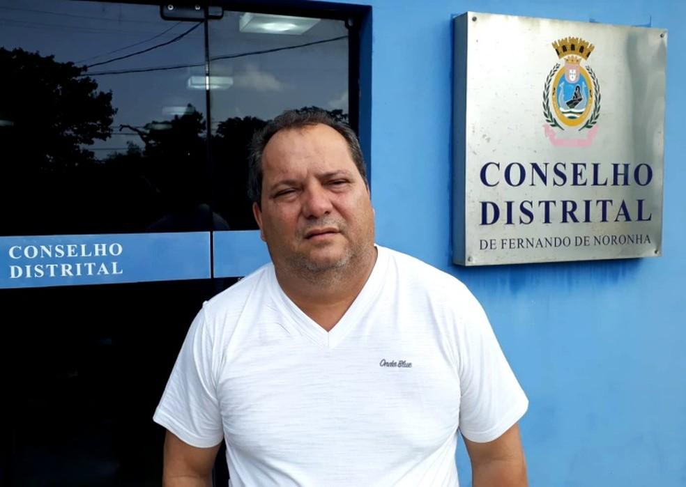 O presidente do Conselho Distrital, Milton Luna, estava no avião da Azul  — Foto: Ana Clara Marinho/TV Globo
