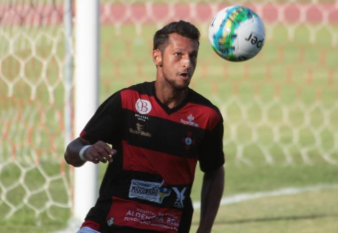 Müller Brenner jogando Série D do Campeonato Brasileiro pelo Moto Club (Foto: Biaman Prado/O Estado)