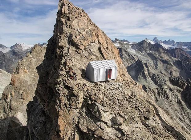 Casinha dos alpes (Foto: Designboom/Reproduçaõ)