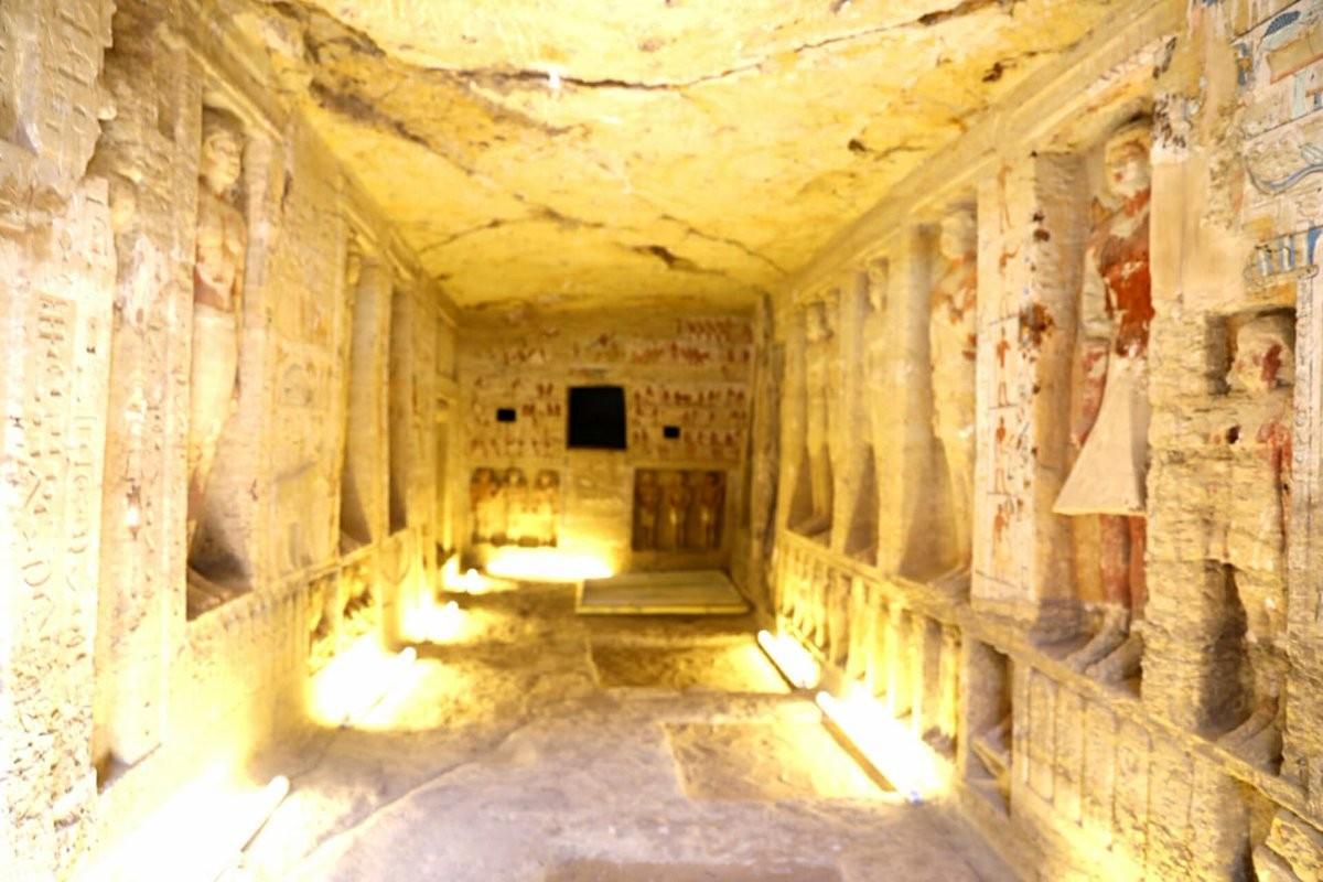 Tumba de 4,4 mil anos está muito bem preservada  (Foto: Ministry of Antiquities-Arab Republic of Egypt )