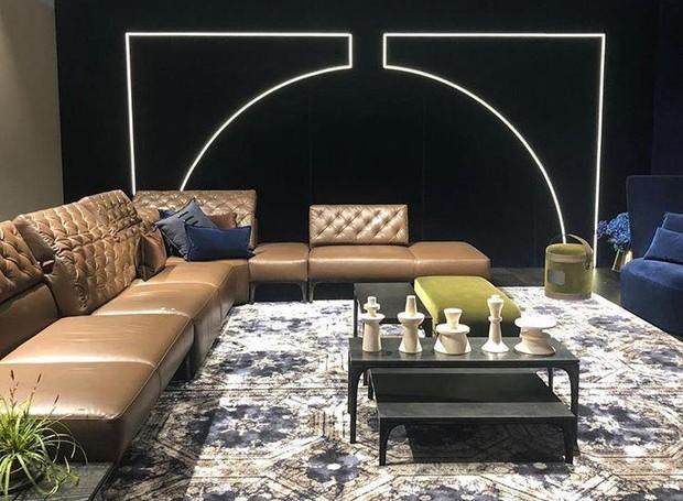 Linha de móveis sustentáveis da Natuzzi e sofás da linha Dandy, elaborados pelo designer holandês Marcel Wanders (Foto: Casa e Jardim)