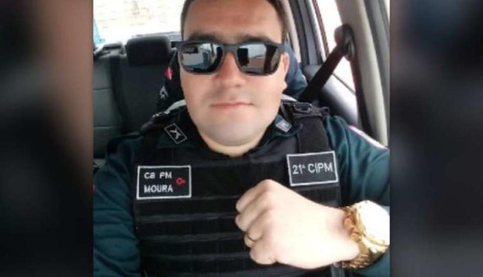 Cabo Moura, morto em atentado a viatura em Ulianópolis — Foto: Reprodução/ TV Liberal
