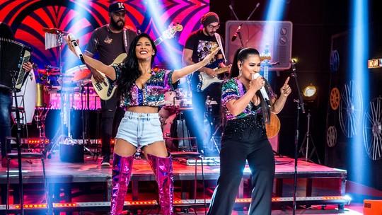 Simaria, da dupla com Simone, empolga plateia do 'Altas Horas' após período longe dos palcos