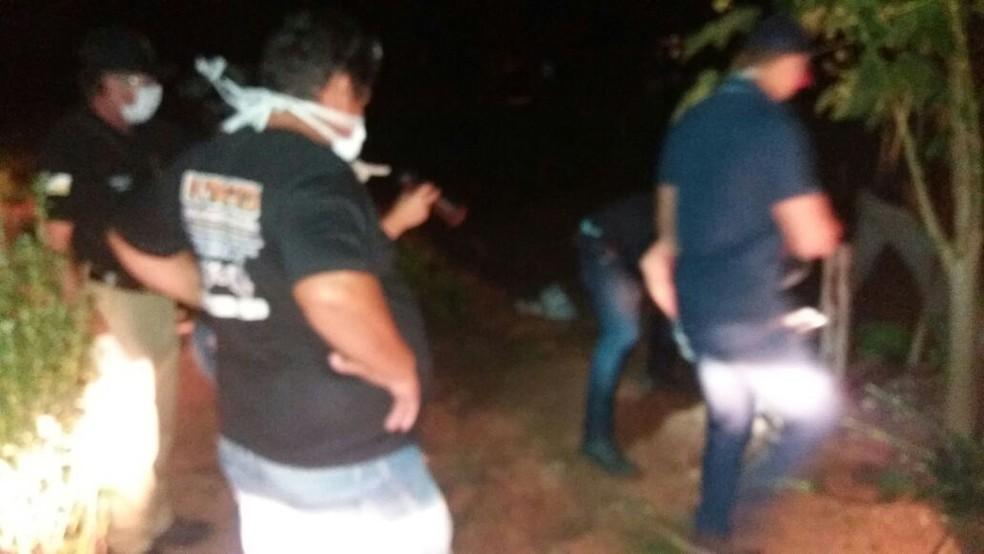 Corpo de Pedro Pereira foi encontrado no quintal da casa do filho (Foto: Divulgação)