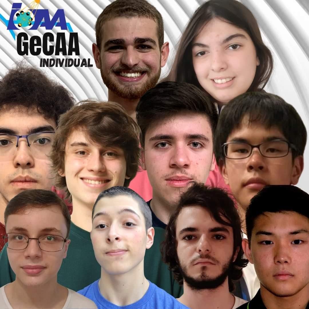 Estudantes brasileiros que participaram da categoria individual na Global e-Competition on Astronomy and Astrophysics (GeCAA) (Foto: Divulgação)