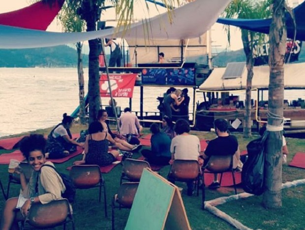 Barco Pirata, espaço das editoras independentes, na FLIP 2018. Foto da Editora Elefante (Foto: Divulgação Editora Elefante )