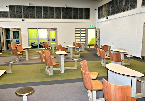Área de visitas da prisão de Auckland (Foto: Department of Corrections Ara Poutama Aotearoa )