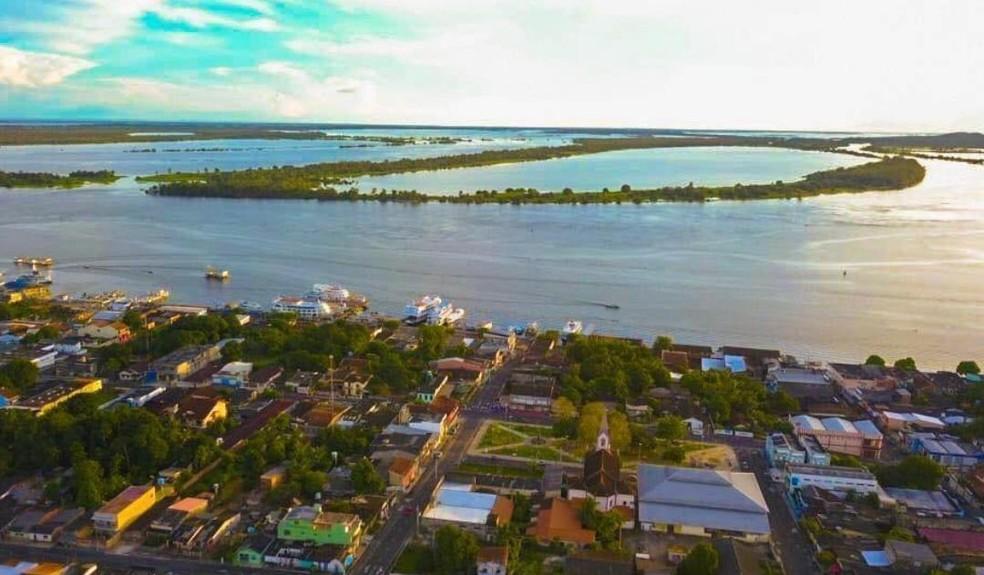 Vista aérea do município de Oriximiná, no oeste do Pará — Foto: Alexandre Iluminação