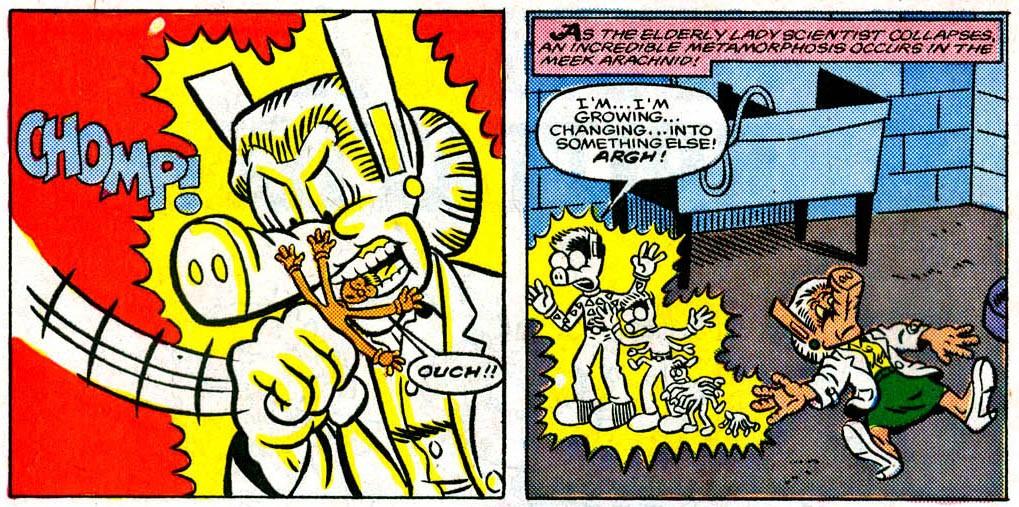 A aranha Peter se transforma em Peter Porker no universo paralelo da Terra-8311 (Foto: Marvel/Reprodução)