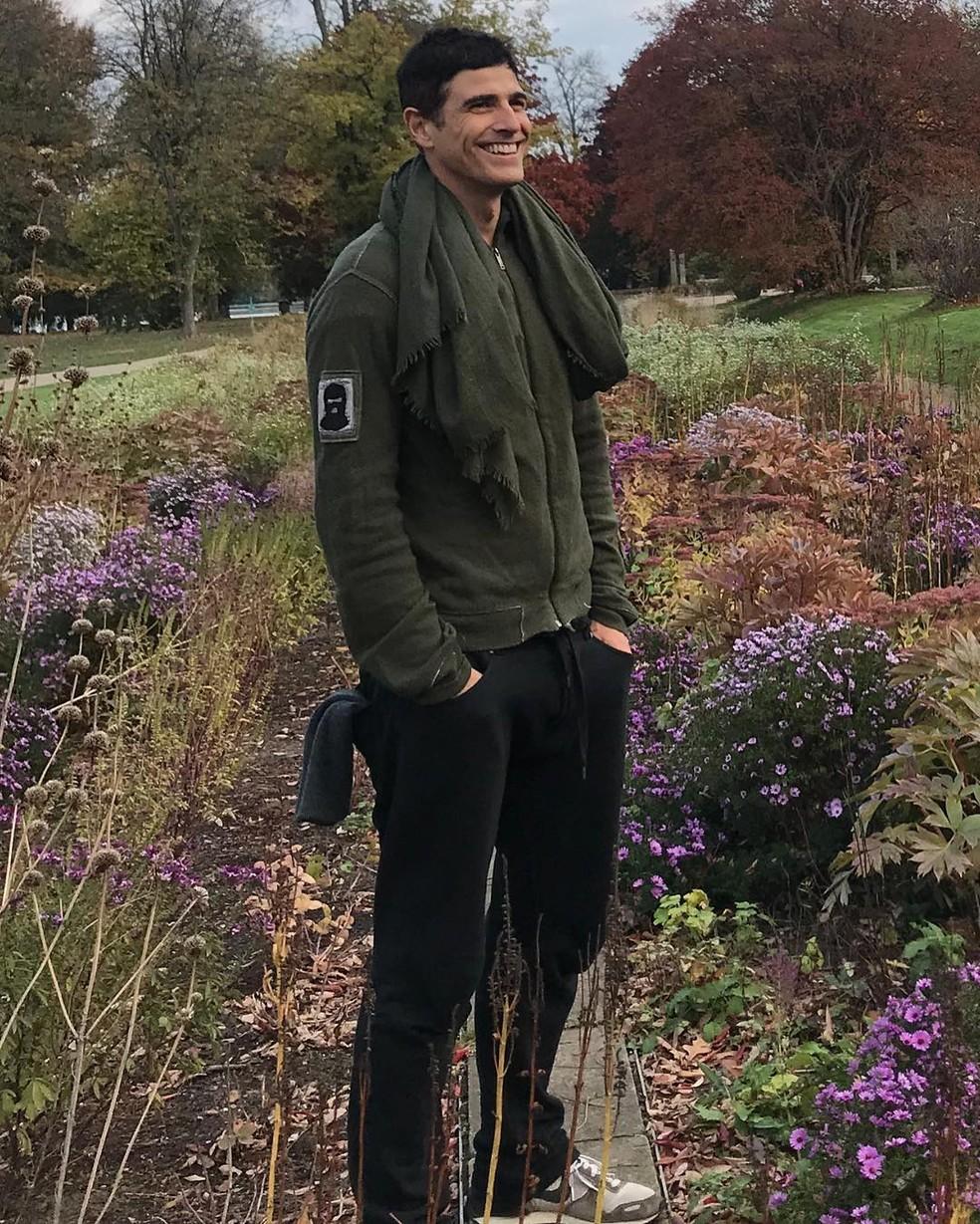 Reynaldo Gianecchini na Alemanha, durante uma das viagens que fez esse ano — Foto: Arquivo pessoal