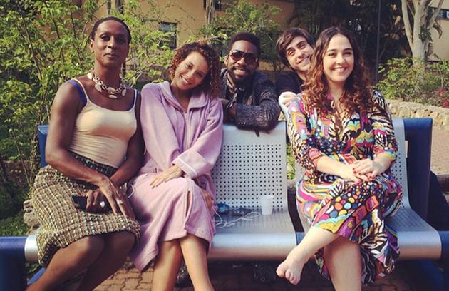 'Todo amor que houver nessa vida pra vocês', escreu Taís Araújo sobre os colegas de elenco (Foto: Reprodução)