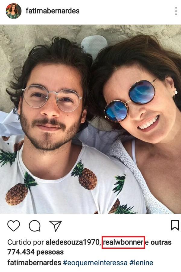 Fátima Bernardes e o namorado (Foto: Instagram/Reprodução)