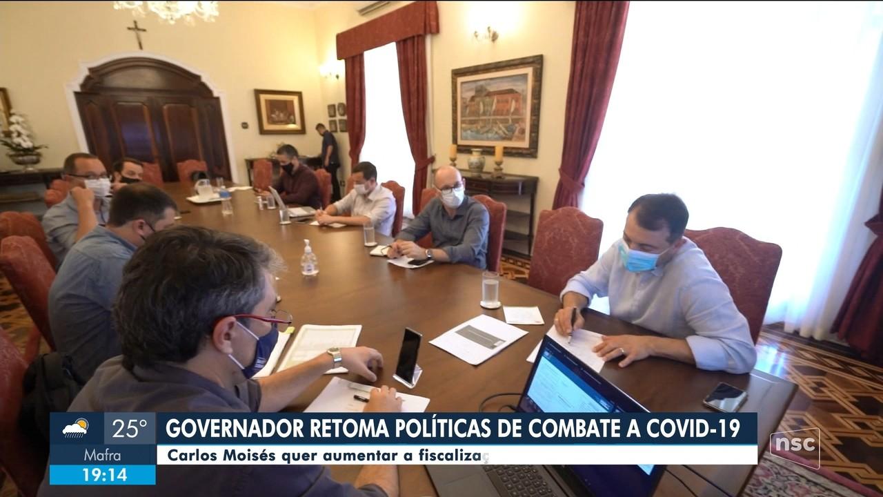 Governador de SC e prefeitos fazem reunião emergencial para falar sobre Covid-19