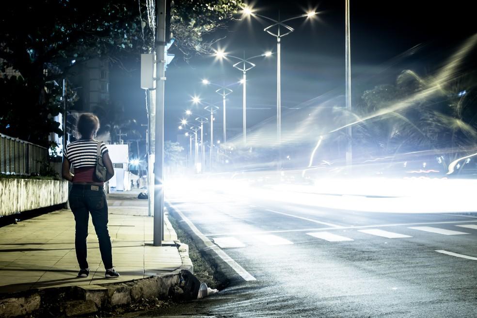 Ponto de prostituição (Foto: Jonathan Lins/G1)