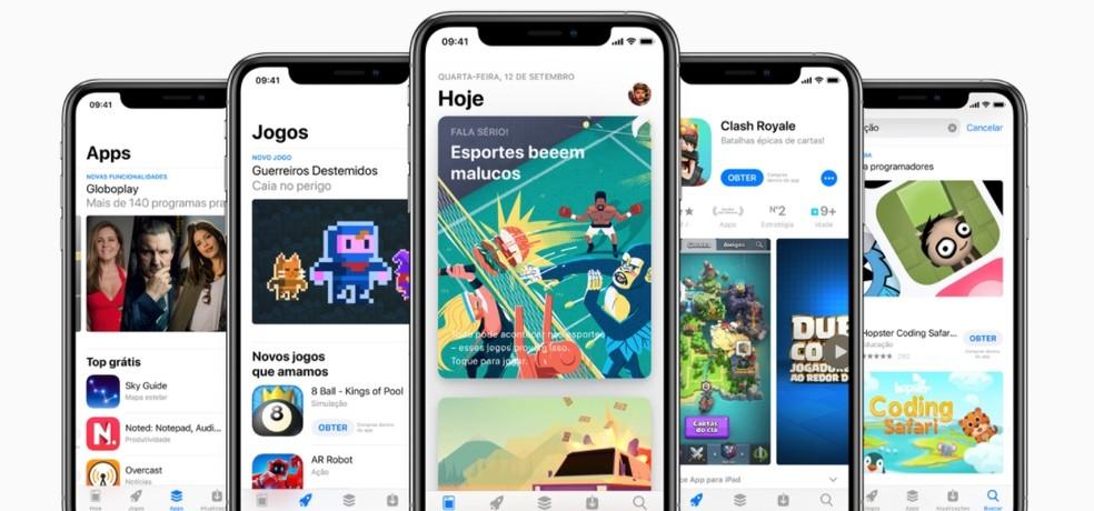 App Store é a única forma de se instalar apps no iPhone e iPad — Foto: Divulgação/Apple