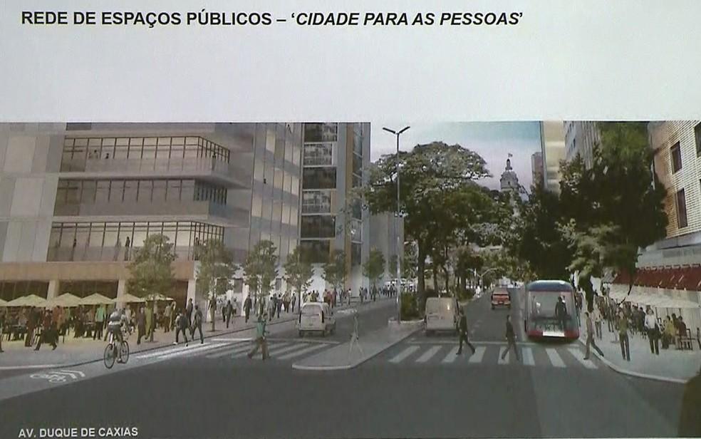 Projeto de Doria para o Centro de São Paulo (Foto: Reprodução/TV Globo)