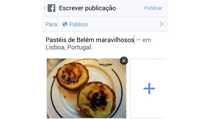 GPS falso permite alterar localização em posts do Facebook (Foto: Reprodução/Raquel Freire)