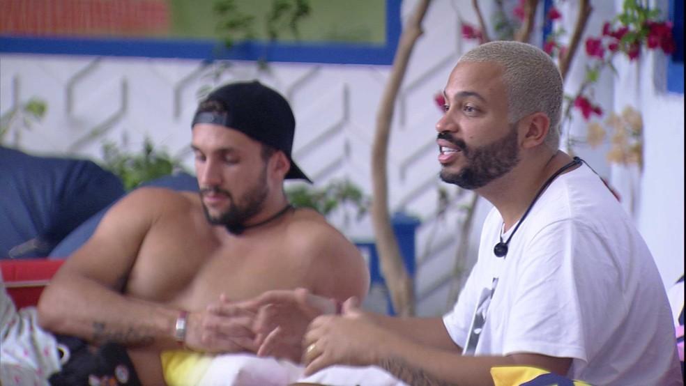 BBB21: Projota lamenta a saída de Nego Di: 'Injustiça muito grande' — Foto: Globo