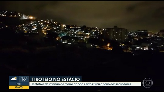 Intensa troca de tiros em tentativa de invasão ao Morro do São Carlos