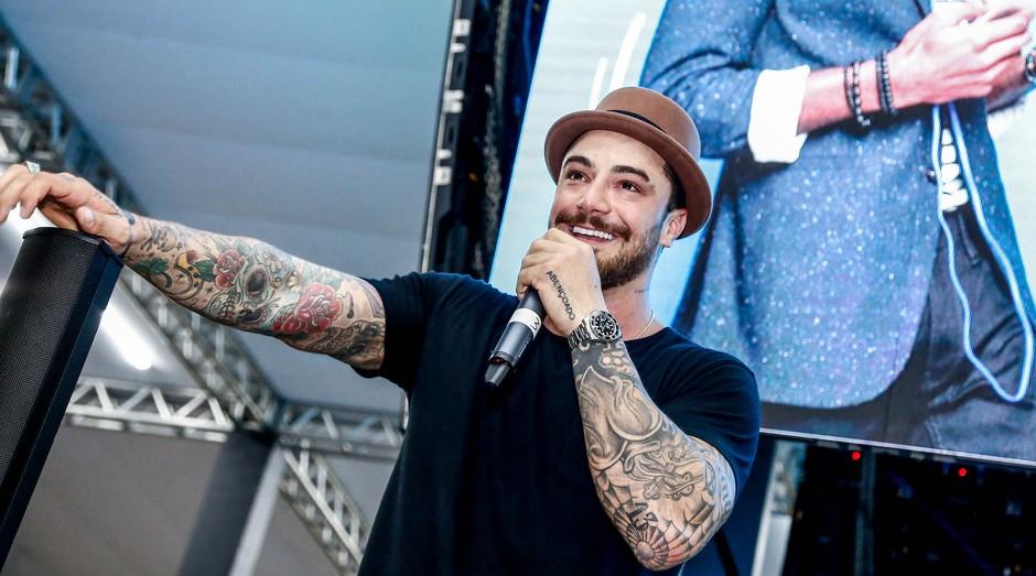 O ator e empreendedor Felipe Titto durante a Feira do Empreendedor 2019 Sebrae-SP (Foto: Sebrae-SP)