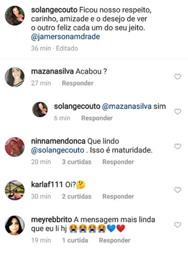 Solange Couto comfirma fimd e casamento  (Foto: Reprodução)
