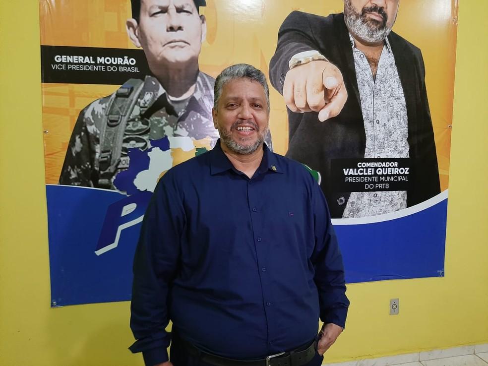Ted Wilson foi o escolhido do PRTB para disputar a vaga de prefeito de Porto Velho — Foto: Diêgo Holanda/G1