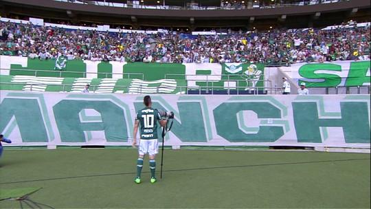 """Moisés brinca sobre comemoração """"fail"""" com torcida do Palmeiras e promete repeti-la"""